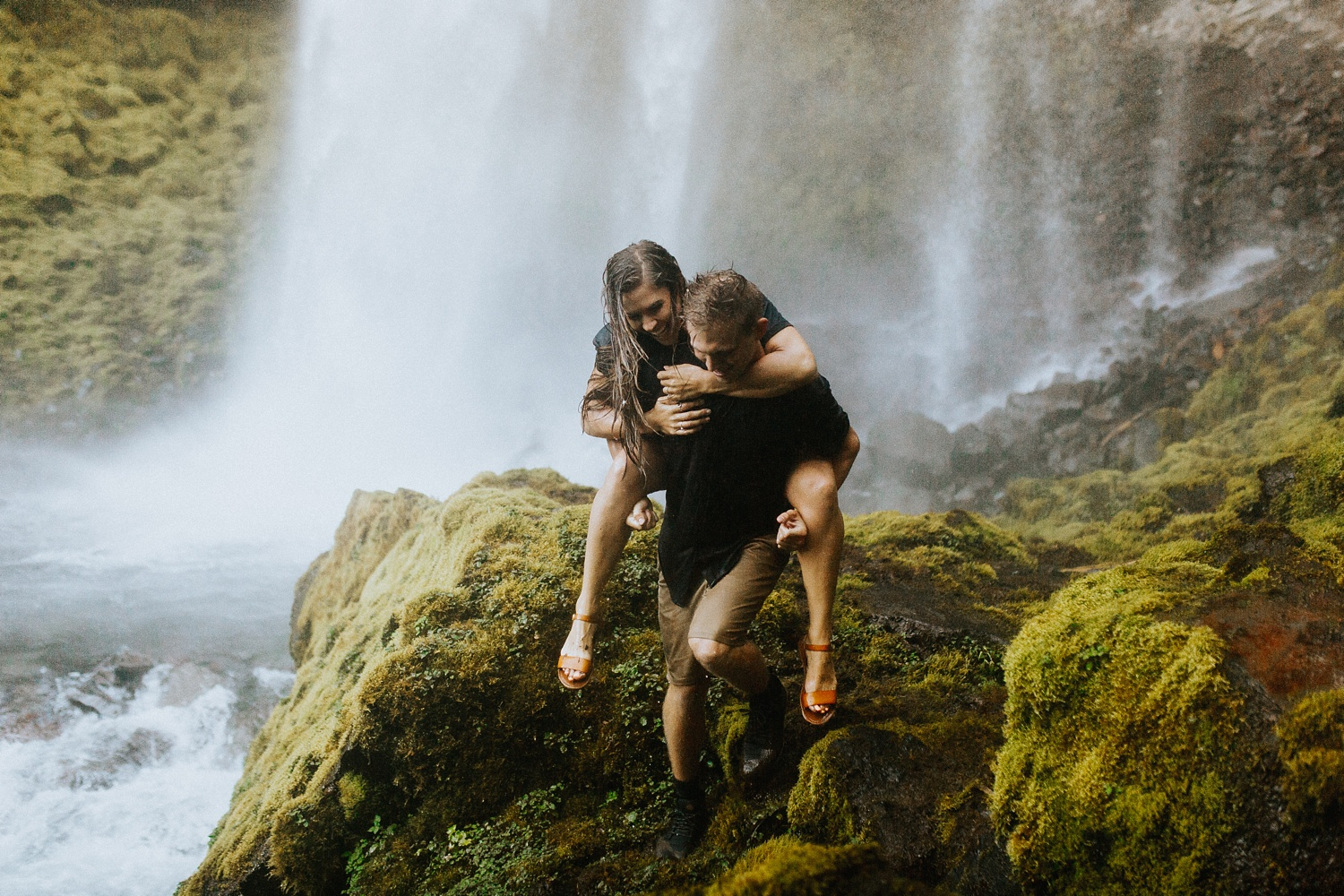 Lethbridge wedding photographer, Alberta wedding photographer, Alberta elopement photographer, Banff wedding photographer, Banff elopement photographer, adventurous photographer, Canada, Alberta, waterfall_3