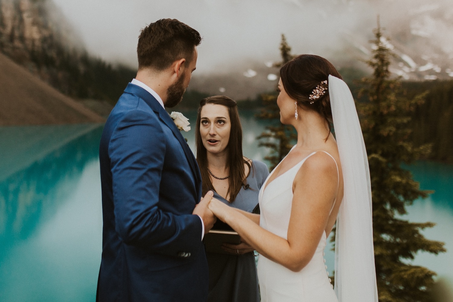 A Sunrise Elopement at Moraine Lake in Banff National Park, Banff National Park Sunrise Elopement, Elopement at Banff National Park, Banff National Park Wedding, How to get married in Banff National Park, Banff National Park Elopement, Moraine Lake Elopement, banff national park wedding photographer, Moraine lake wedding photographer, Moraine Lake wedding photos, Wedding at Moraine Lake in Banff National Park