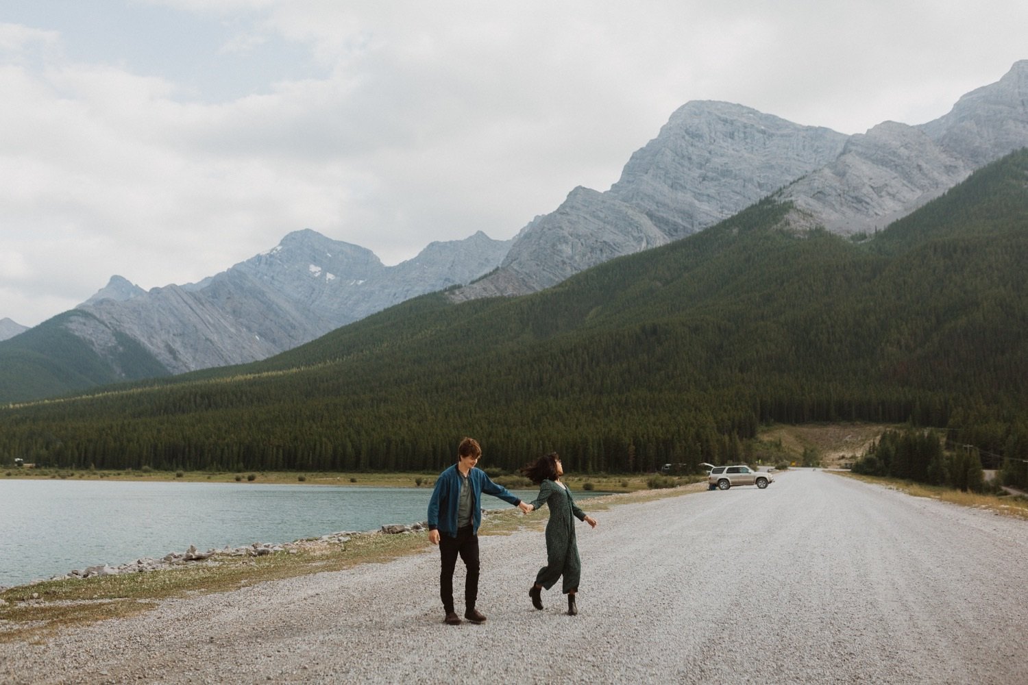 Couple Photos in Banff National Park, Banff National Park Couple Photos, Wedding photos in Banff National Park, Banff National Park Elopement, Where to get couple photos in Banff, Banff Wedding, Banff Wedding Photographer, Banff Engagement Photographer, Wedding in Banff National Park, Couple Photos Banff, Banff Engagement Photos, Couple photos at Spray Lakes Kananaskis, Spray Lakes Kananaskis