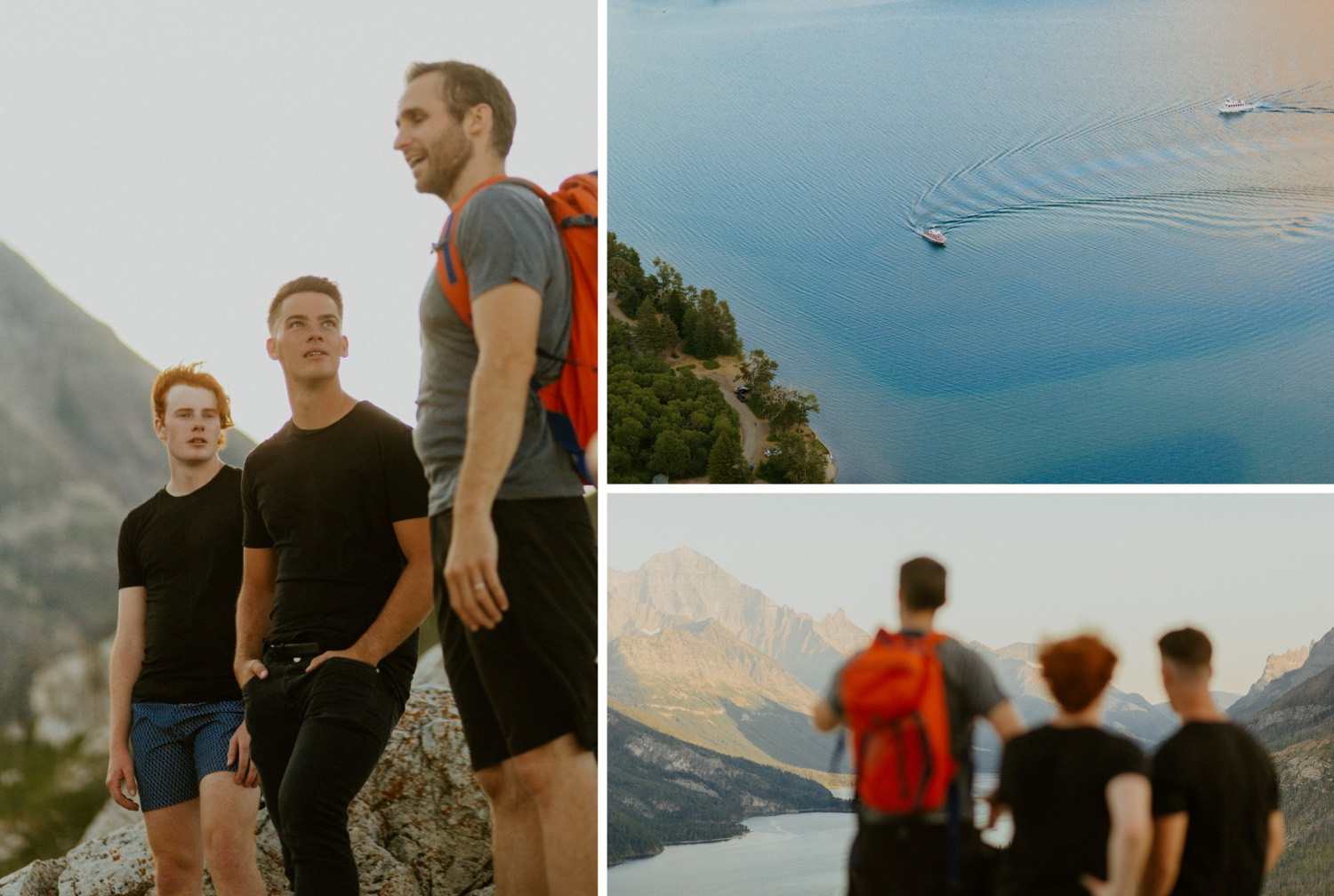 Waterton Wedding Adventurous Mountain Elopement style in the beautiful Canadian Rocky Mountains right after the group got to the mountain top
