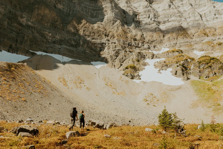 Banff Adventure Engagement Session Hiking in Banff near Kananaskis area