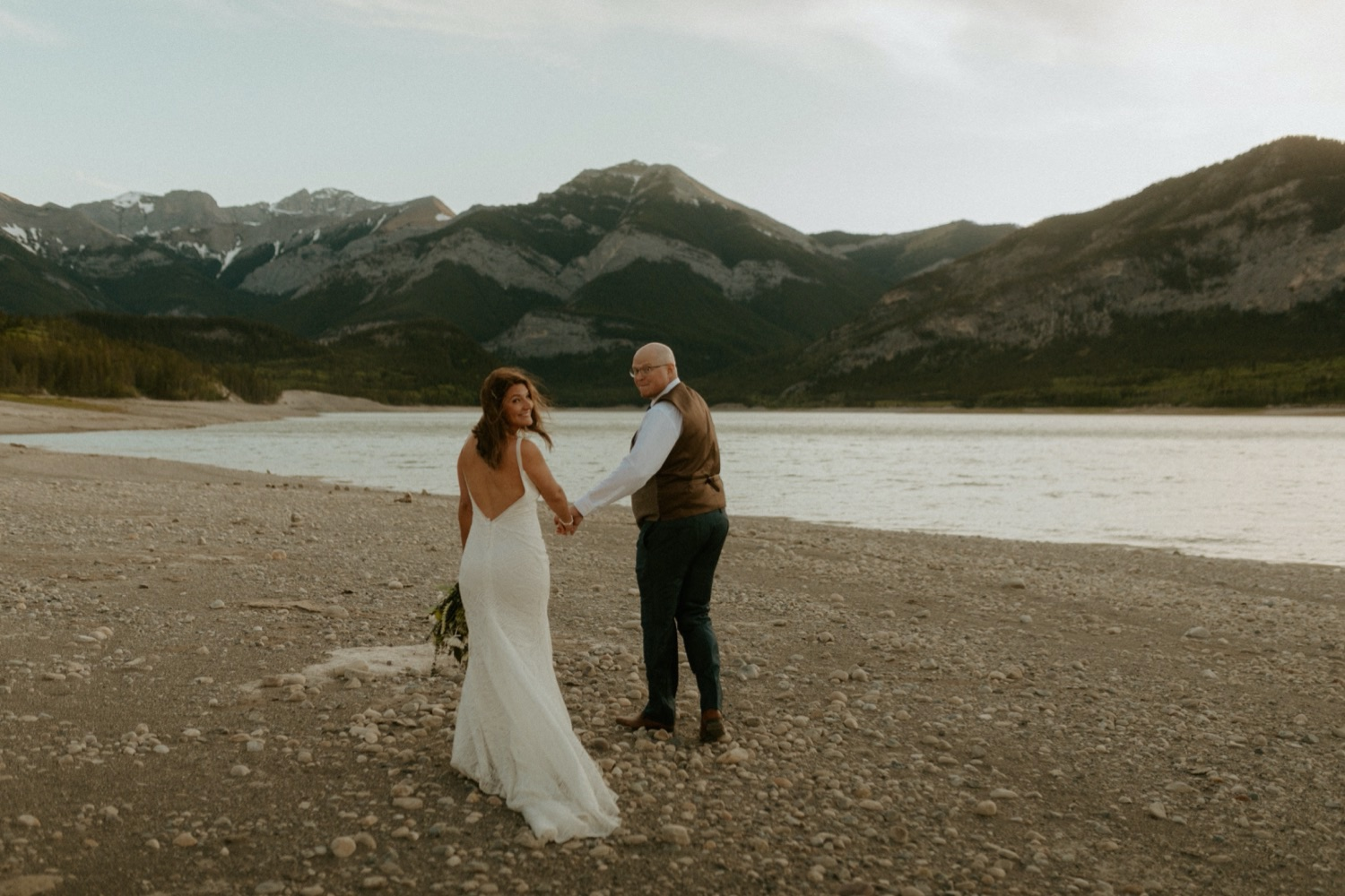 Kananaskis Mountain Elopement, Kananaskis Mountain Elopement with their Dog, Kananaskis summer elopement, kananaskis summer wedding, kananaskis elopement, kananaskis wedding, wedding with dog, elopement with dog present, where to get married in kananaskis, where to elope in kananaskis, kananaskis wedding ceremony, kananaskis elopement photographer, kananaskis elopement photographer, Alberta wedding and elopement photographer